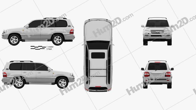 Toyota Land Cruiser VX 2005 car clipart
