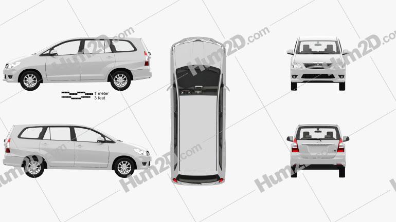 Toyota Innova with HQ interior 2011 clipart