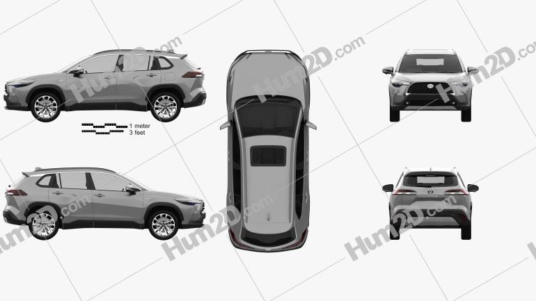 Toyota Corolla Cross 2020 Clipart Image