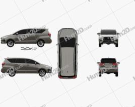 Toyota Innova 2021 clipart