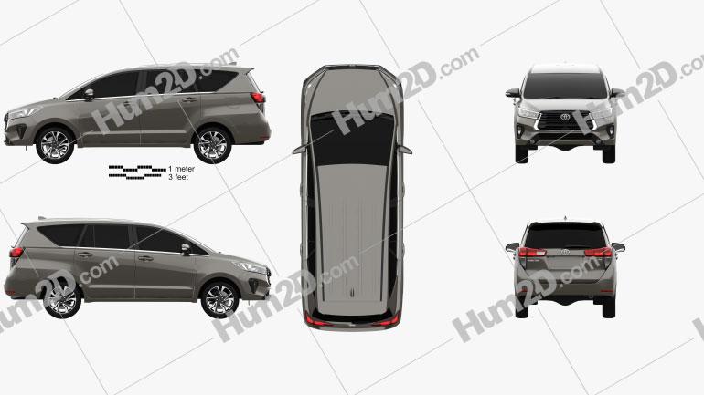 Toyota Innova 2021 Imagem Clipart