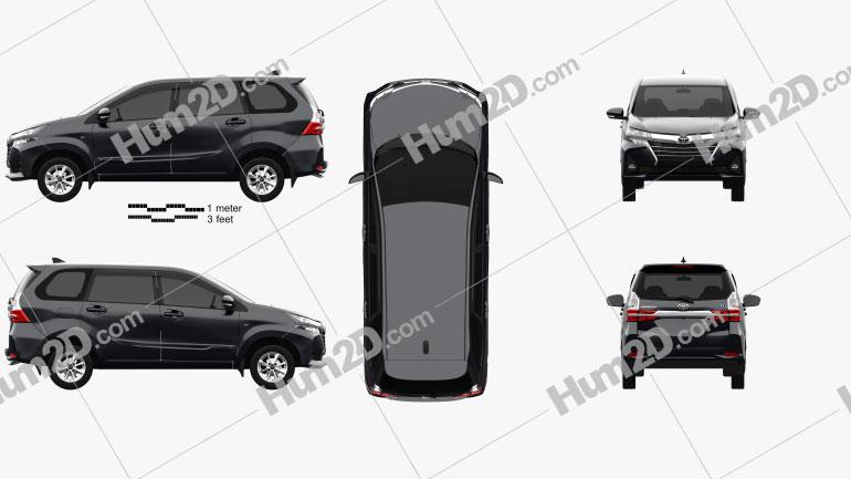 Toyota Avanza G 2021 clipart