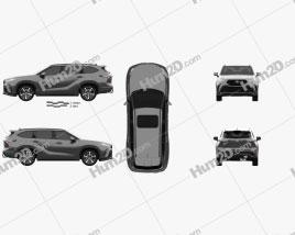 Toyota Highlander XSE 2020 car clipart