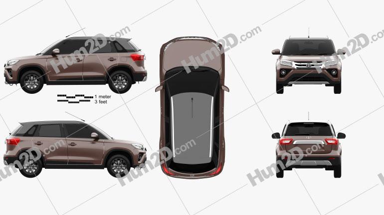 Toyota Urban Cruiser 2020 car clipart