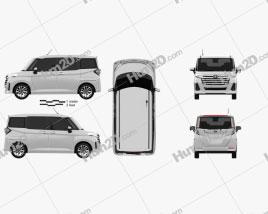 Toyota Roomy G 2020 car clipart