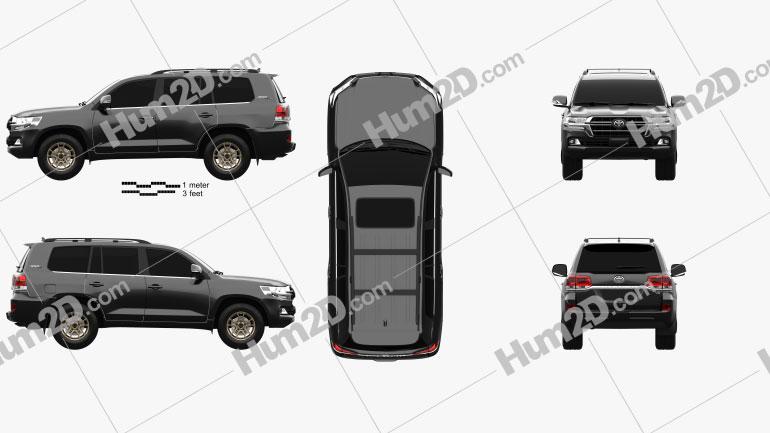 Toyota Land Cruiser US-spec Heritage Edition 2021 Clipart Image
