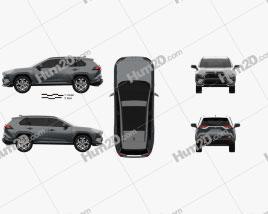 Toyota RAV4 PHEV 2020 car clipart