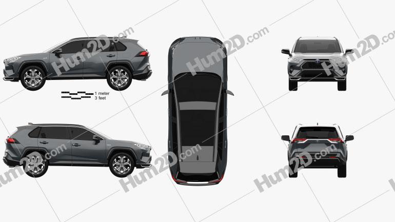 Toyota RAV4 PHEV 2020 Clipart Image