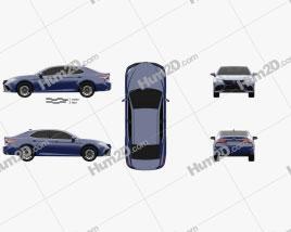 Toyota Camry XSE hybrid 2021 car clipart