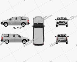Toyota Probox DX van 2015 clipart