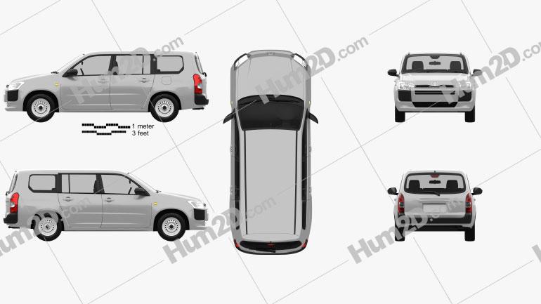 Toyota Probox DX van 2015 Clipart Image