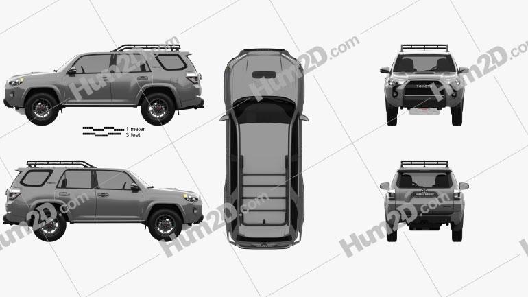 Toyota 4Runner TRD Pro 2021 car clipart