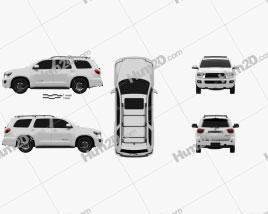 Toyota Sequoia TRD Pro 2021 car clipart