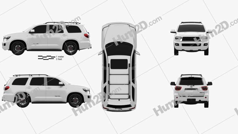 Toyota Sequoia TRD Pro 2021 Clipart Image