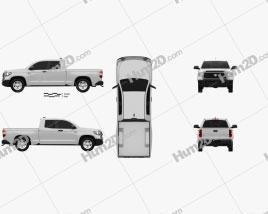 Toyota Tundra Doppelkabine Standard-Bett SR 2021 car clipart