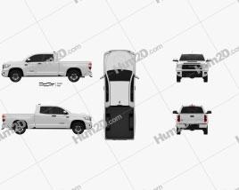Toyota Tundra Doppelkabine Standard-Bett TRD Pro 2021 car clipart