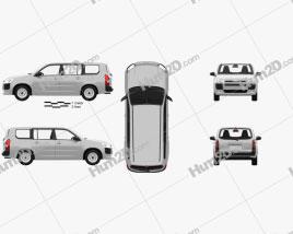 Toyota Probox DX van with HQ interior 2015 clipart