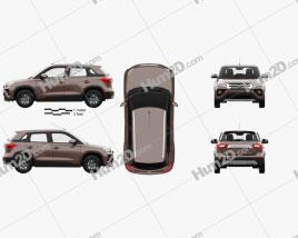 Toyota Urban Cruiser with HQ interior 2020 car clipart