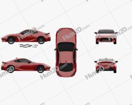 Toyota GR 86 2022 car clipart