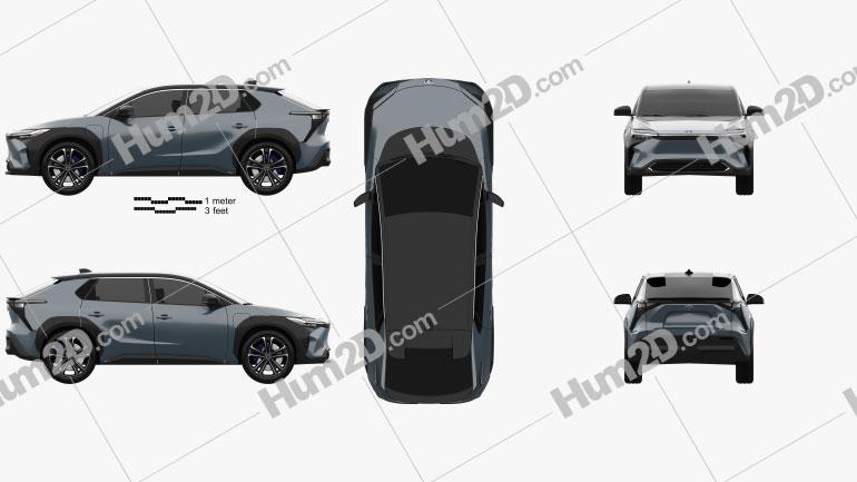 Toyota bZ4X 2021 car clipart