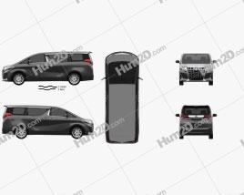 Toyota Alphard Hybrid Executive Lounge 2018 clipart