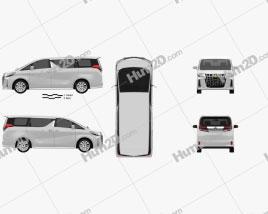 Toyota Alphard S 2021 clipart