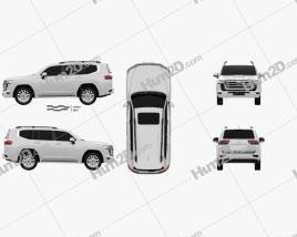 Toyota Land Cruiser 2021 car clipart