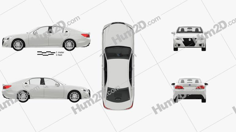 Toyota Crown Hybrid Athlete with HQ interior 2013 Imagem Clipart