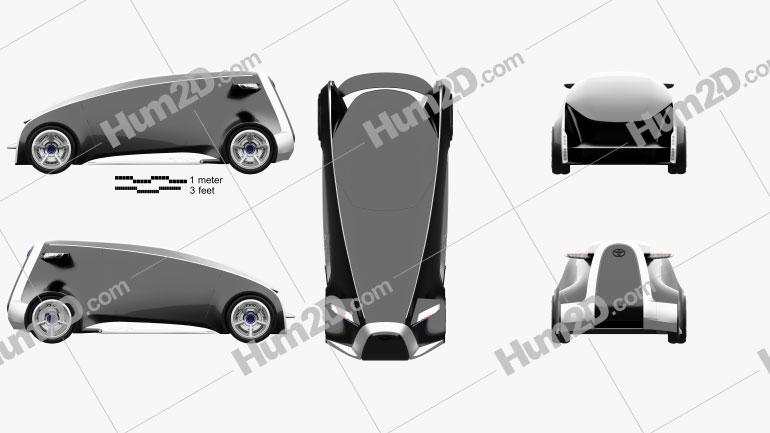 Toyota Fun VII 2011 car clipart