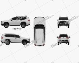 Toyota Land Cruiser GR-S 2021 car clipart