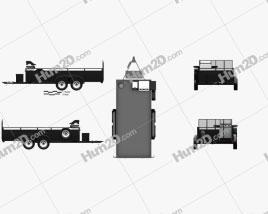Generic Utility Car Trailer 2-axle 2016