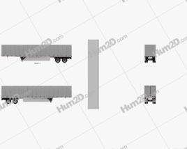 Utility 4000D-X Composite Wall Semi Trailer 2014 clipart