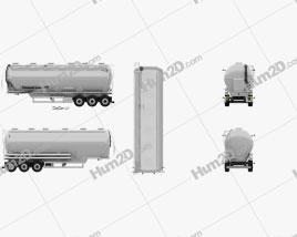 Scania Tanker Semi Trailer 2017