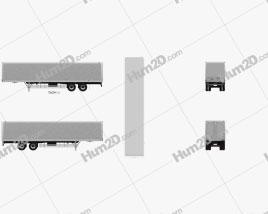 Fruehauf FVA241C Dry Van Semi Trailer 2017