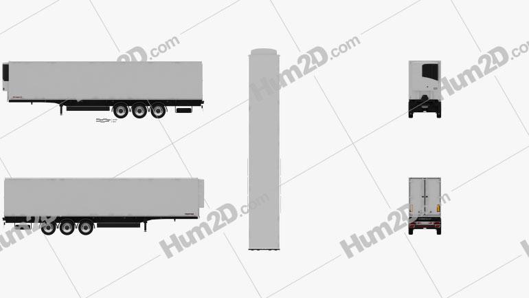 Schwarzmueller Refrigerator Semi Trailer 3-axle 2016 clipart