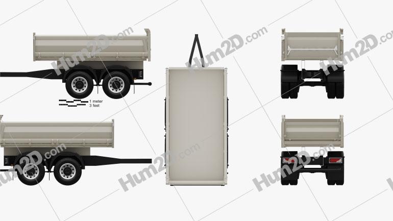 Meiller-Kipper D316 Tipper Centre-axle Trailer 2012 clipart