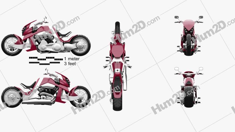 Travertson V-Rex 2008 Motorcycle clipart