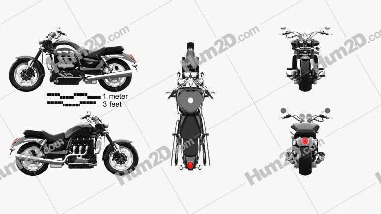 Triumph Rocket III Roadster 2013 Motorcycle clipart