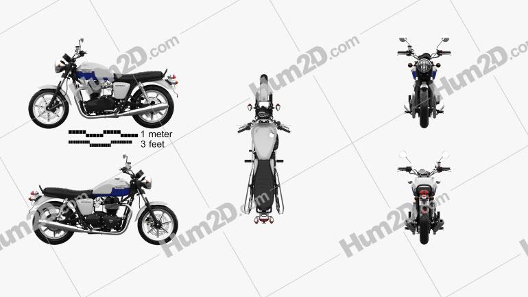 Triumph Bonneville 2015 Motorcycle clipart