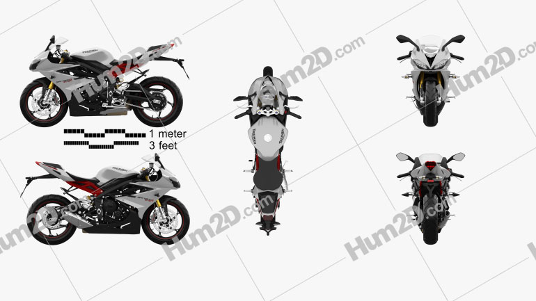 Triumph Daytona 675R ABS 2015 Motorcycle clipart