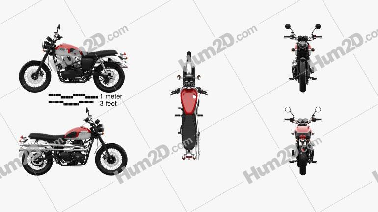 Triumph Scrambler 2015 Motorcycle clipart