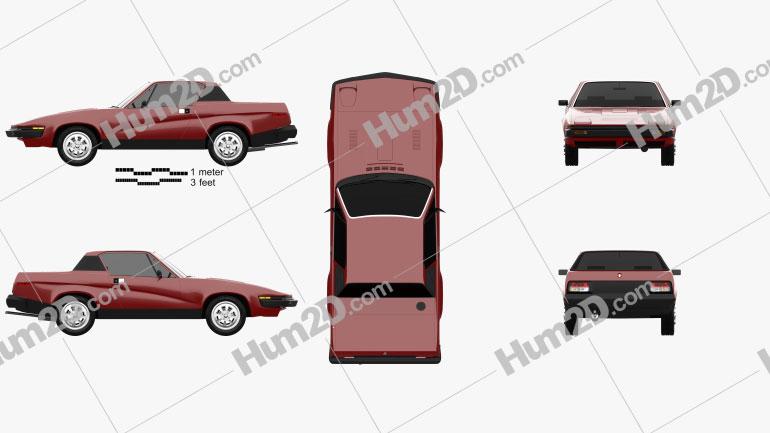 Triumph TR7 1974 car clipart