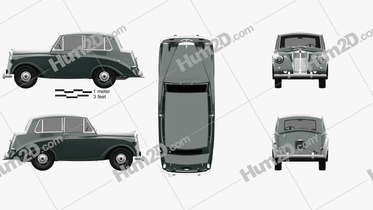 Triumph Mayflower 1949 car clipart
