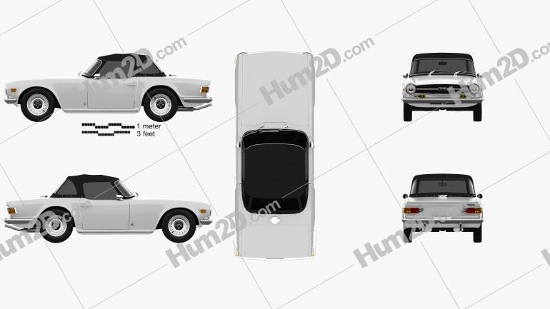 Triumph TR6 1969 car clipart
