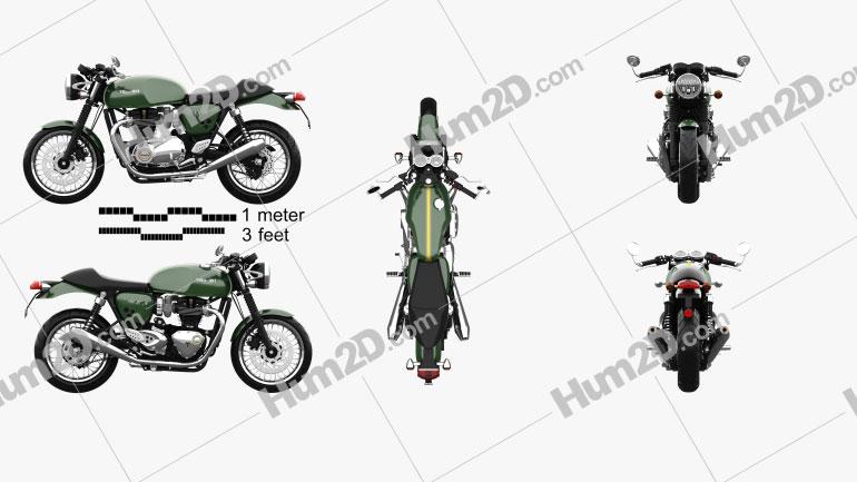 Triumph Thruxton 1200 2018 Motorcycle clipart