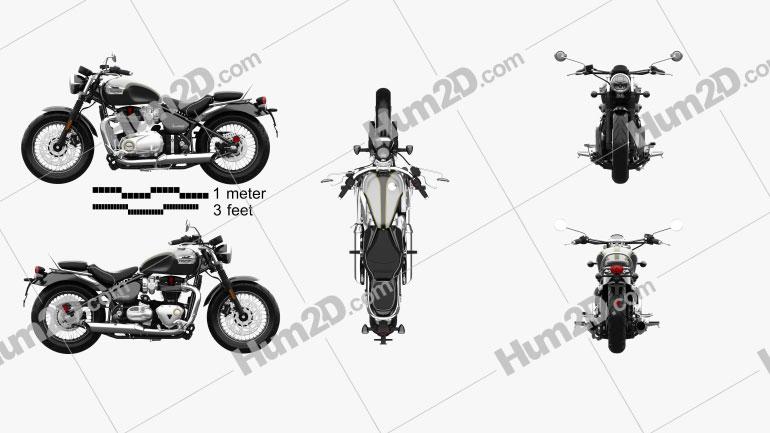 Triumph Bonneville Speedmaster 2018 Motorcycle clipart
