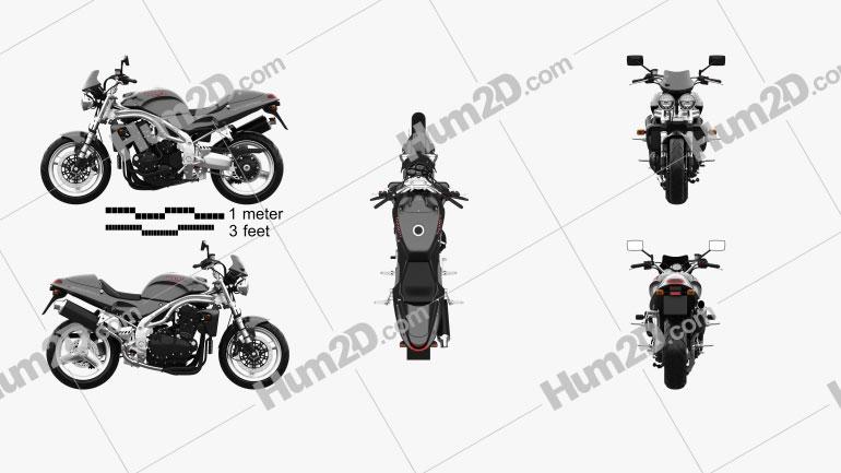 Triumph Speed Triple 955i 2000 Motorrad clipart