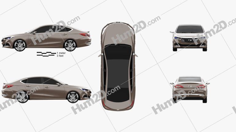GAC Trumpchi GA6 2014 car clipart