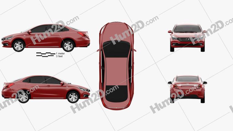Trumpchi GA3s 2014 car clipart