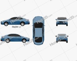 Trumpchi GA3 2013 car clipart